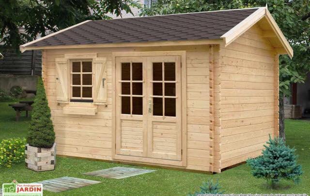 chalet de jardin soliverdi espace vert. Black Bedroom Furniture Sets. Home Design Ideas