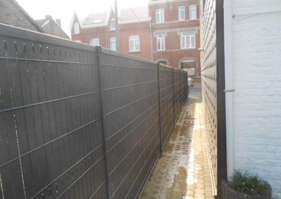 Mise en place clôture et lattes NEVADA à Liège