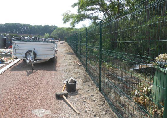 Pose de clôture à Seraing