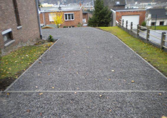 Réalisation d'une allée de garage en dalles alvéolées