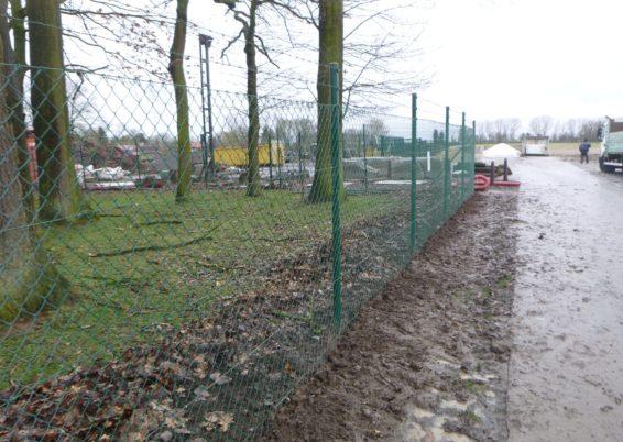 Réparation d'une clôture à Faimes