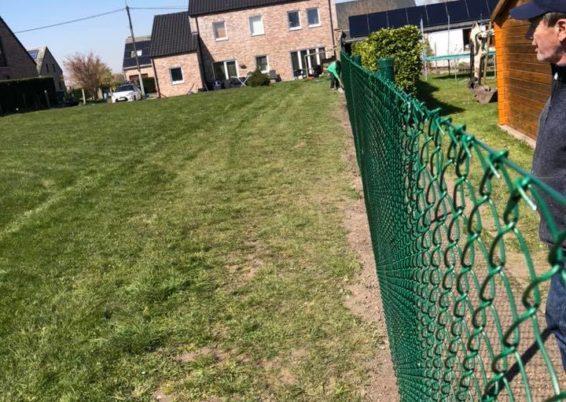 Placement d'une clôture souple à Flémalle