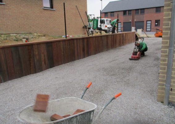 Réalisation de murs de soutien en palplanches exotique