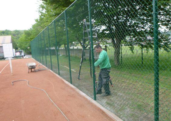Remplacement de la clôture du tennis club de Trooz