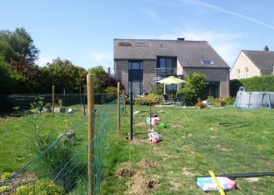 Placement d'une clôture rigide et un portail de jardin à Othée