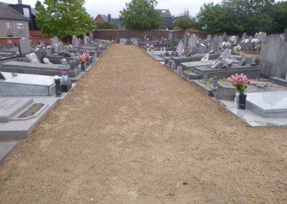 Verdurisation du cimetière à Ans