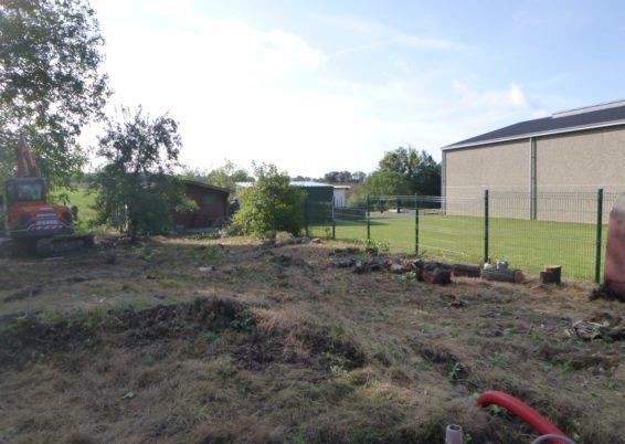 Réaménagement complet d'un jardin à Horion-Hozémont.