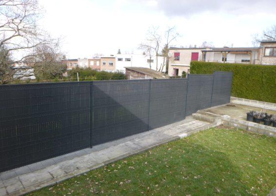 Placement d'une clôture rigide avec lames d'occultation à Ougrée