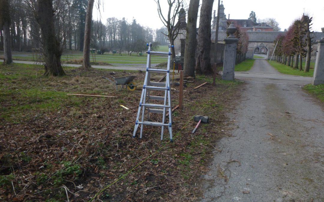 Implantation d'une clôture électrique au château d'Ouffet