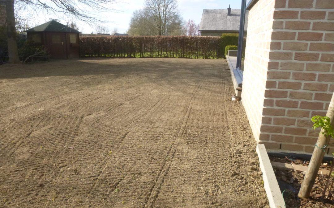Réalisation d'une nouvelle pelouse à Boncelles
