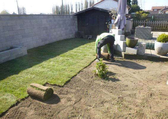 Réfection d'une petite pelouse à Ans