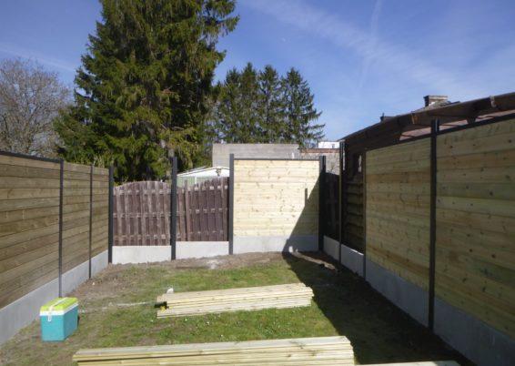 Sécurisation d'un jardin à Seraing