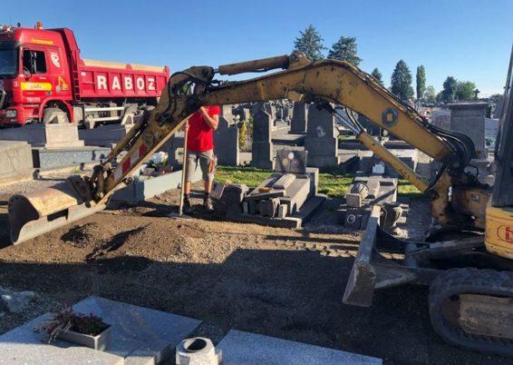 Verdurisation des allées des cimetières de la commune d'Ans